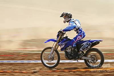 Cross Country Motorbike Racing Art Print by PhotoStock-Israel