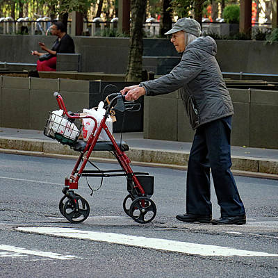 Photograph - Crossing The Street by Dorin Adrian Berbier