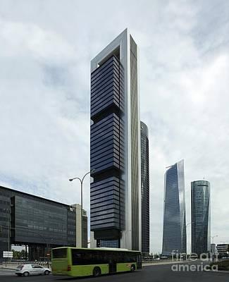 Ctba Skyscrapers, Madrid Art Print by Carlos Dominguez