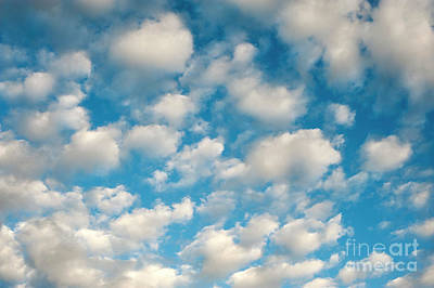 Photograph - Cumulus Clouds With Blue Sky by Jim Corwin