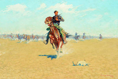 Patriotism Painting - Cutting Out Pony Herds by Frederic Sackrider Remington