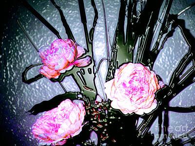 Photograph - 3-d Computer Modification Of A Floral Photograph by Merton Allen