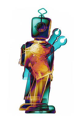 Photograph - D4x X-ray Robot Art Photograph by Roy Livingston
