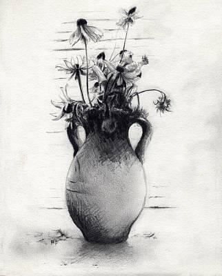 Still Life Drawing - Daisies by Rachel Christine Nowicki