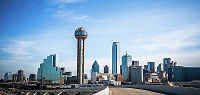 Photograph - Dallas Texas City Skyline And Downtown by Alex Grichenko