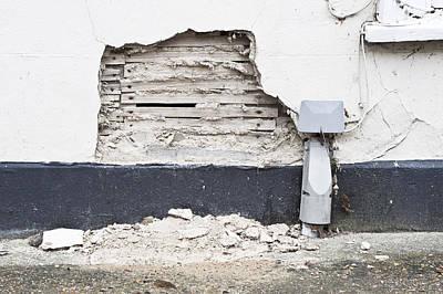 Damaged Wall Art Print