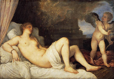 Danae Painting - Danae by Titian