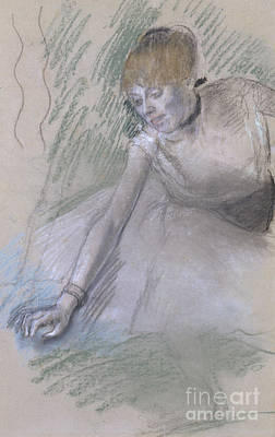Pastel - Dancer by Edgar Degas