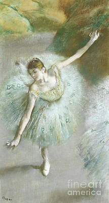 Photograph - Dancer In Green by Edgar Degas