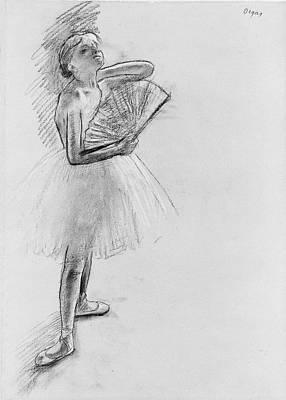 Drawing - Dancer With A Fan by Edgar Degas