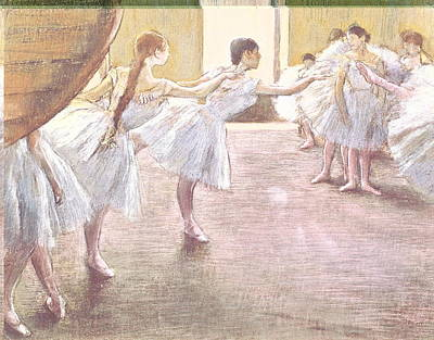 Dancers At Rehearsal Art Print by MotionAge Designs