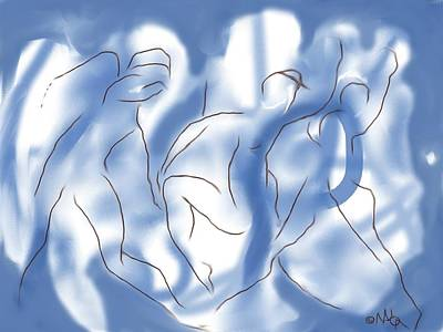 Digital Art - 3 Dancing Figures by Mary Armstrong