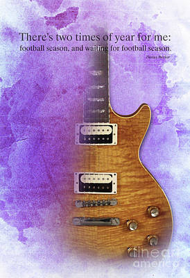 Darius Rucker Inspirational Quote, Electric Guitar Poster For Music Lovers And Musicians Print by Pablo Franchi