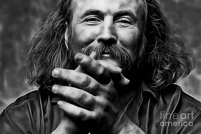 David Crosby Collection Art Print by Marvin Blaine