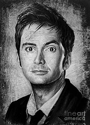 Science Fiction Drawings - David Tennant by Andrew Read