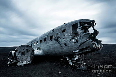 Wall Art - Photograph - Dc3 Plane Crash.... by Sebastien Coell