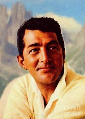 Colorful People Abstract Royalty Free Images - Dean Martin, actor, crooner Royalty-Free Image by Esoterica Art Agency