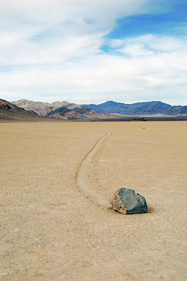 Art Print featuring the photograph Death Valley Racetrack by Breck Bartholomew