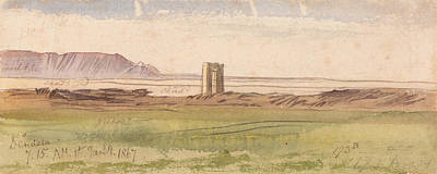 Drawing - Dendera by Edward Lear