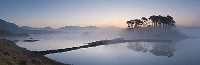 Y120831 Photograph - Derryclare Lough At Dawn, Connemara, Ireland by Ben Pipe Photography