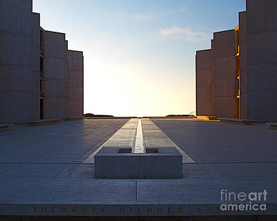 Design And Architecture Of The Salk Institute In La Jolla Califo Art Print by ELITE IMAGE photography By Chad McDermott