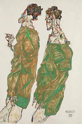Schiele Painting - Devotion by Egon Schiele