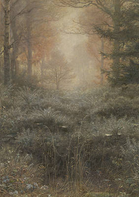 Dew Painting - Dew-drenched Furze by John Everett Millais
