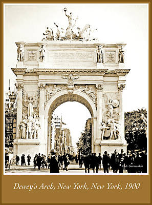 Dewey's Arch, New York, 1900, Vintage Photograph Art Print