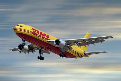 Mixed Media - Dhl Airbus A300-f4 by Smart Aviation