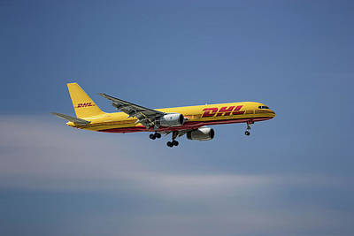 Mixed Media - Dhl Boeing 757-236 Pcf by Smart Aviation