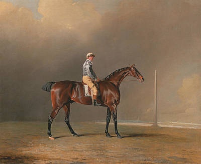 Marshall Painting - Diamond, With Dennis Fitzpatrick Up by Benjamin Marshall