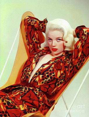 Painting - Diana Dors, Vintage Movie Star by John Springfield