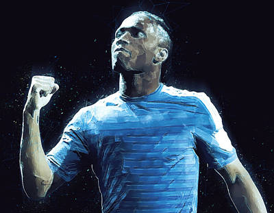 Champion Digital Art - Didier Drogba by Semih Yurdabak
