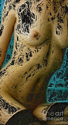 Sex Digital Art - Digital Woman by Mary Bassett