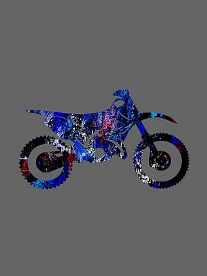 Dirt Bike Collection Print by Marvin Blaine