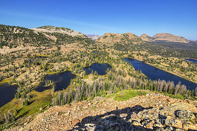 Photograph - 3 Divides Lakes Area From Mount Watson by Spencer Baugh