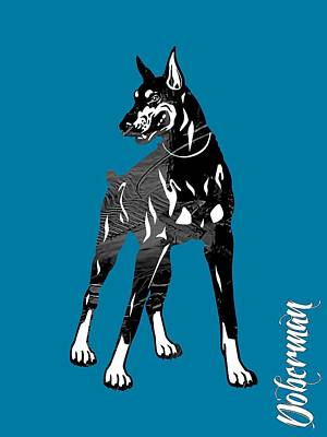 Pet Mixed Media - Doberman Pinscher Collection by Marvin Blaine