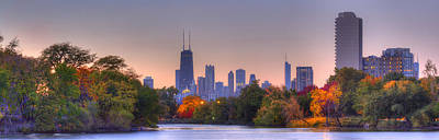 Downtown Chicago From Lincoln Park Art Print by Twenty Two North Photography