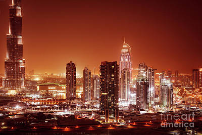 Photograph - Dubai City At Night by Anna Om