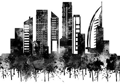 Dubai Skyline Painting - Dubai by Art Galaxy
