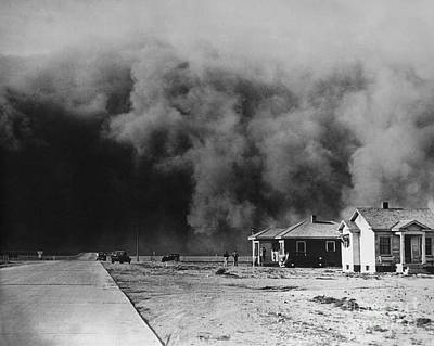 Photograph - Dust Storm 1930s by Omikron