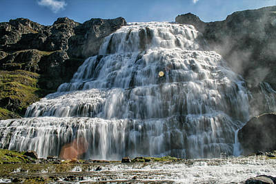 Photograph - Dynjandi Waterfall, Iceland by Patricia Hofmeester
