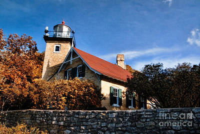 Eagle Bluff Lighthouse Art Print
