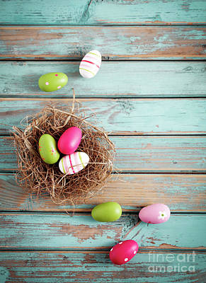 Photograph - Easter Egg Background by Kati Finell