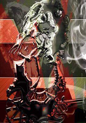 Van Halen Mixed Media - Eddie Van Halen Art by Marvin Blaine