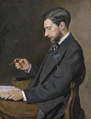 Painting - Edmond Maitre by Frederic Bazille