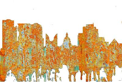 Digital Art - Edmonton Alta. Skyline by Marlene Watson