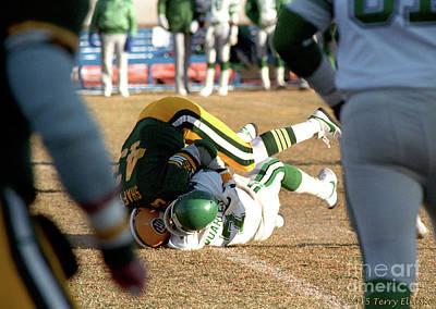 Photograph - Edmonton Eskimos Football - Craig Shaffer 1986 by Terry Elniski