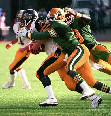 Photograph - Edmonton Eskimos Football - Stanley Blair - 1988 by Terry Elniski