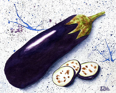 Painting - Eggplant For Lunch by Rich Stedman